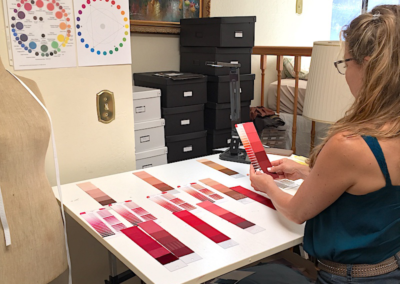 color designer student working in class cdi
