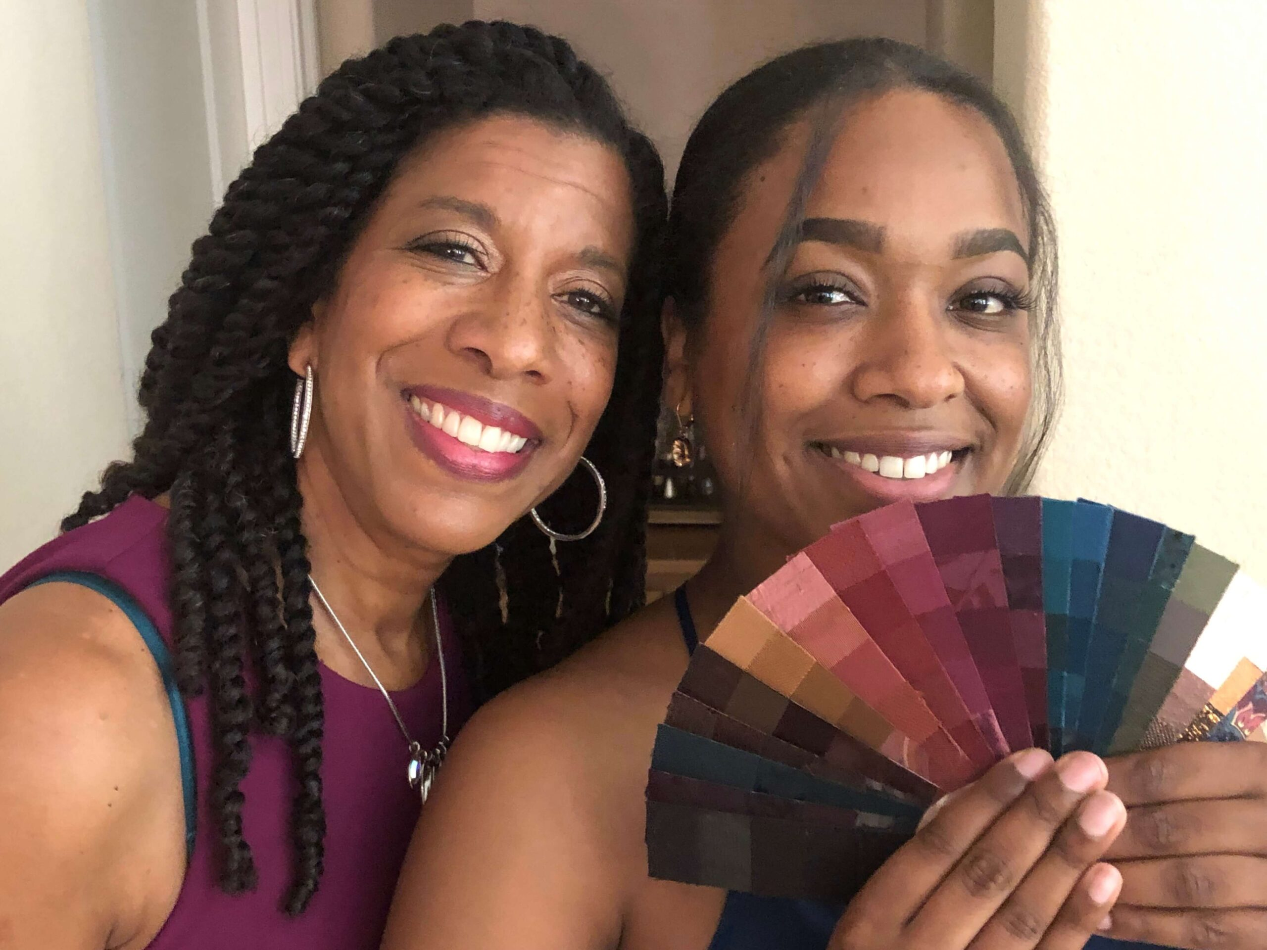 mother and daughter black women color fans cdi